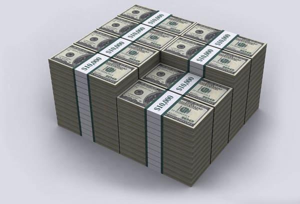 Cколько весит миллион и миллиард usd, rub и eur разными купюрами